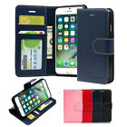 ID Card Pocket Leather Wallet Case Cover Silicone Case For iPhone Galaxy LG Lot
