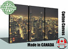 """Huge canvas print, NIGHT Chicago Skyline, READY TO HANG OPTION, up to 60""""x40"""""""