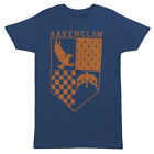 Harry Potter Ravenclaw Eagle Raven Crest Logo Licensed Adult T-Shirt - Blue