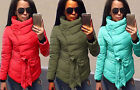 UK Women Winter Warm Down Jacket Ladies Cotton Coat Long Outerwear Fashion