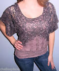 NWT $29 STUDIO Y MAURICES Lined Lace DOLMAN Oversized Top CHOOSE S M L Mauve