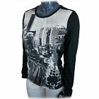 Hot Chillys Womens Base Layer Top MTF Scoop Neck HC 7432 Hollywood Black & White