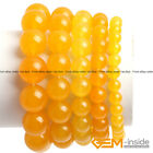 Handmade Yellow Jade Beaded Energy Healing Bracelet Fashion Jewelry Gift 7.5""