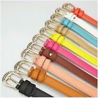 1PCS Skinny Leather Belts Womans Ladies Casual Candy Colors Belts Crazy HOT