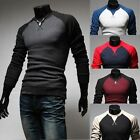 Fashion Mens Casual Slim Knitted Cardigan Knitwear Pullover Jumper Sweater Tops