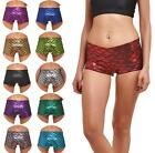 Hot Female Galaxy Fish Scales bright printed Fitness Running Yoga Shorts 1PC