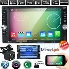"""6.6"""" HD Bluetooth Touch Screen Car Stereo Radio 2 DIN FM/MP5/USB/AUX with Camera"""