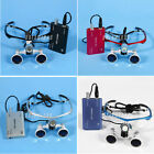 Dental Surgical Medical Binocular Loupes Glasses 3.5x420mm w/ LED Headlight DTVE