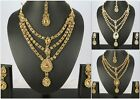 Indian 3-Row Kundan Fashion Jewelry Kundan Polki Wedding Necklace Set Earring