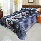 4x Bedding Set Black Tiger Bed Sheet Cover Pillowcases Queen/King/Twin Size B3V6