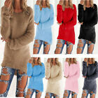 Women Knitted Sweater Pullover Knitwear Loose Cardigan Long Sleeve Outwear Coat