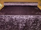 """Bling"" Amethyst Crushed Velvet Fabric Curtain Upholstery Cushions Blinds"