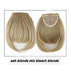 100% Natural Hair Extension Clip In Front Hair Bangs Neat Fringe for human  SN66