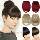 100% Real Natural Hair Extension Clip In Front Hair Bangs Fringe for human SN66