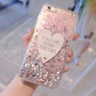 Cute 3d Love Bling Dynamic Liquid Glitter Case Cover for iPhone 6/6S/7/7 8 Plus