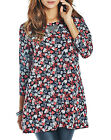MARISOTA Scoop Neck HEARTS & FLOWER Printed Non-Stretch Tunic Top Size 14