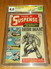 TALES OF SUSPENSE #39 CGC SIGNATURE SERIES 4.0 OFF WHITE TO WHITE PAGES 03/1963