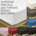 LUXURY SUPERIOR EGYPTIAN COTTON 200 THREAD COUNT COTTON FITTED BED SHEET