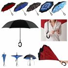 Creative C-Handle Double Layer Inside-Out/Upside Down/Reverse Umbrella Windproof