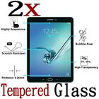 2x Tempered Glass Film Protector For Galaxy Tab A 8.0 T350 9.7 T550 Transparent