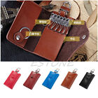 Soft Men's Leather Wallet Car Key Chain Holder Accessory 6 Ring Pouch Case Purse