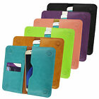 PU Leather Magnetic Slim Wallet Case Cover Sleeve Holder fits Creev phones