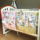 Cute Multifunctional Pockets Hanging Storage Bag for Baby Bed Diaper Nursery Cot