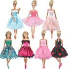 NEW STYLE Dolls Clothes Wedding Evening Party Dress Mini Skirt for Barbie Doll A