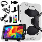 """For Samsung Galaxy Tab 4 7.0 7"""" inch SM-T230NU Case PU Leather Cover + Accessory"""