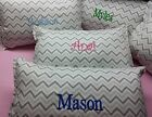New HandCrafted Toddler Travel or Decor pillow Gray Chevron on white Unisex Soft