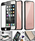 Hot Protective Bumper Shockproof Slim Case Cover & 3D Full edge Tempered Glass