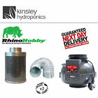 Rhino Fan & Hobby Filter Kit 4 5 6 8 10 + 5m Foil Ducting & Clips Hydroponics