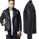 Urban Classics Herren Kunst Lederjacke leather jacket TB1440