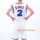 Daffy Duck 2 Basketball Jersey Tune Squad Space Jam Movie Stiched Shirt New