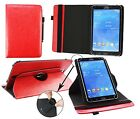 """Leather Folding Stand Folio Wallet Case Cover for 9"""" 9.7"""" 10"""" Tablet & Stylus"""