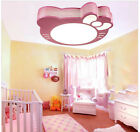 Hello Kitty Child Baby Room Ceiling Lamp Eye Protection Lights Pink white cat