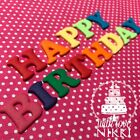 BRIGHT LETTERS NUMBERS 2.5cm edible icing fondant cupcake cake decoration topper
