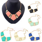 Women's Retro Necklace Vintage Bib Statement Chain Necklace Chunky Collar