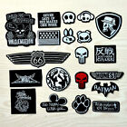 10pcs/set Black Badge Style  Embroidered Patch Iron /sew on Clothing Applique