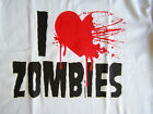 NEW FUNNY ZOMBIE TSHIRT - I Heart (Love) Zombies