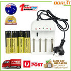 BORUiT Rechargeable 3.7V 4000mAh 18650 Li-ion Battery + Charger Kit For Headlamp
