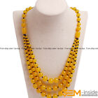 Handmade 8-12mm Gemstone Beaded Fashion Long Necklace For Women 19 inch Yao-Bye