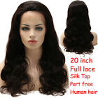 Silk Top Base Brazilian Virgin Human Hair Full Lace Wig Lace Front Wigs Black BS