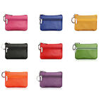 High Quality Luxury Leather Zip Coin Purse Key Ring Wallet Pouch Bag 10*7cm