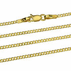 Goldkette Panzerkette Massiv Gold 750 Halskette Damen Gelbgold 18K 40 50cm 1,5mm