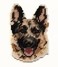 Loyal Smart GERMAN SHEPHERD~ Handmade Stitched Dog MAGNET or Christmas Ornament