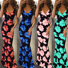 Women Summer Boho Floral Long Maxi Evening Party Cocktail Beach Dresses Sundress
