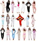 Luxury Womens Novelty Hooded 3D Onesie Fleece Pyjamas Dress Up Pjs Ladies Size