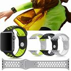 Silicone Sports Wrist Band Strap Bracelet For Apple iWatch Series 1/2 38/42mm