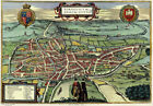 MAP OF NORWICH IN 1581 VINTAGE METAL TIN SIGN POSTER WALL PLAQUE